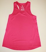 Pink exercise singlet