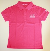 Hot pink polo t-shirt